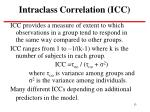 intraclass correlation icc