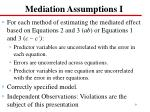 mediation assumptions i