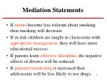 mediation statements