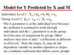 model for y predicted by x and m