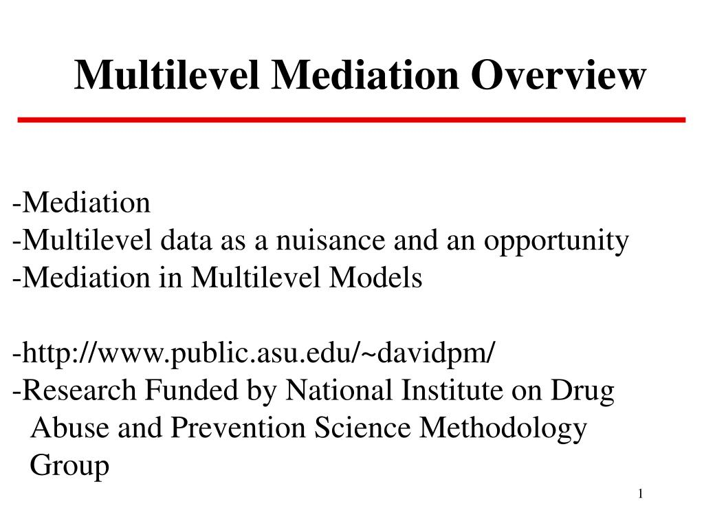 multilevel mediation overview l.