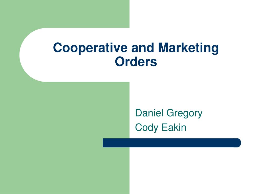 cooperative and marketing orders l.
