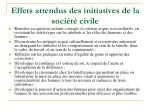 effets attendus des initiatives de la soci t civile