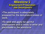 milestone 2 employment preparation job development