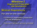 milestone 2 employment preparation job development11