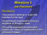milestone 3 job placement
