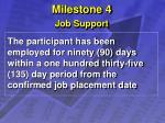 milestone 4 job support