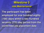 milestone 5 job maintenance