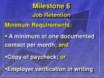 milestone 6 job retention20