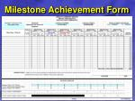 milestone achievement form29