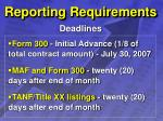 reporting requirements32