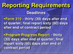 reporting requirements33