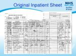 original inpatient sheet