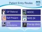patient entry routes