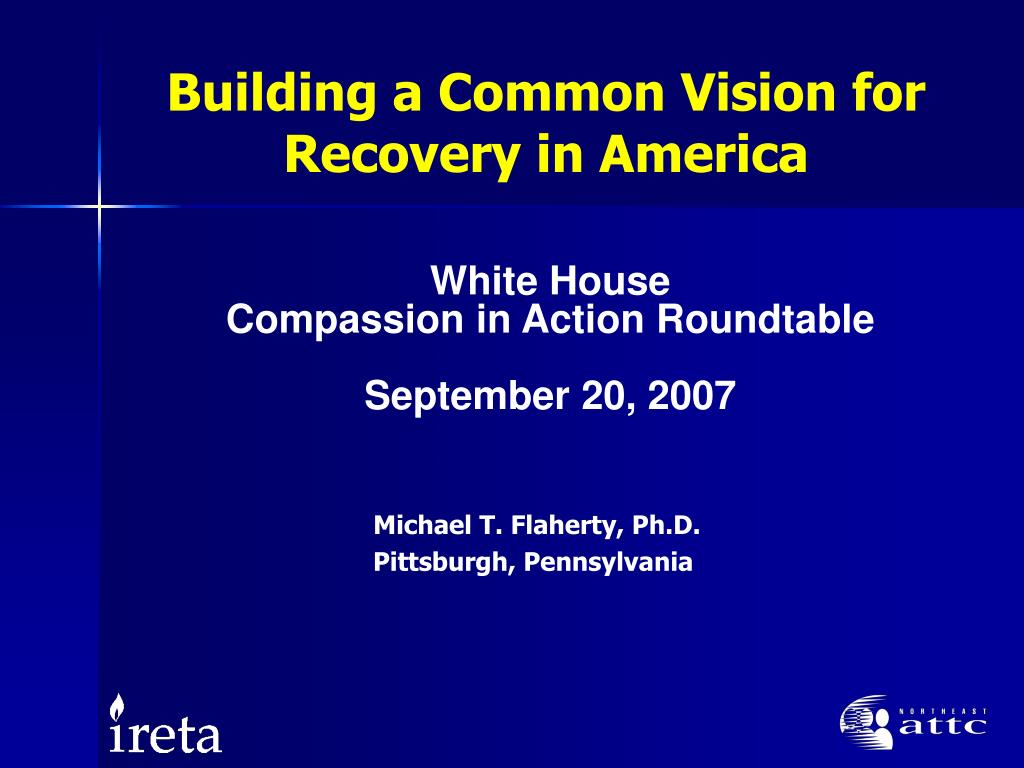 building a common vision for recovery in america l.