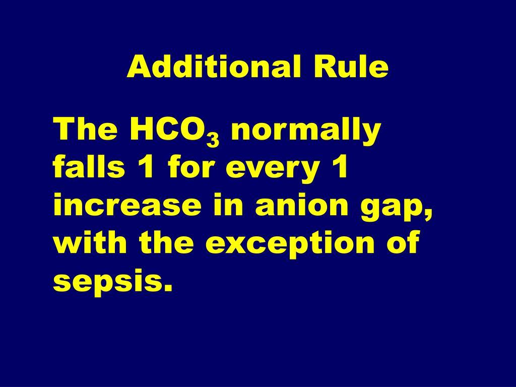 Additional Rule