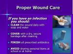 proper wound care