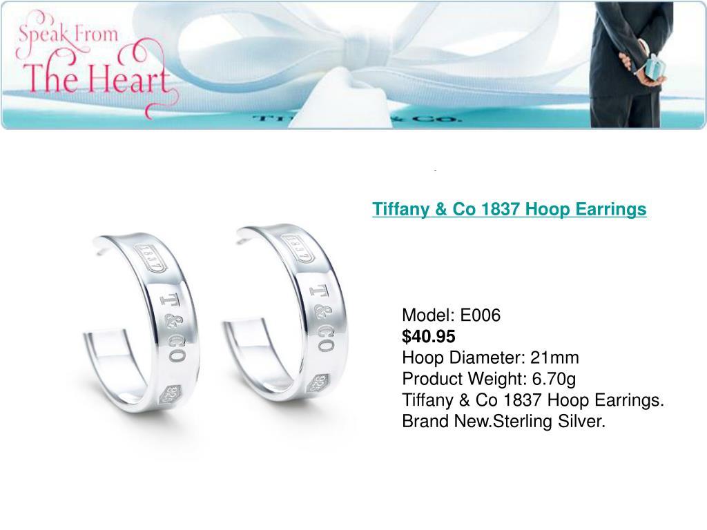 Tiffany & Co 1837 Hoop Earrings