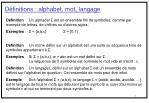 d finitions alphabet mot langage