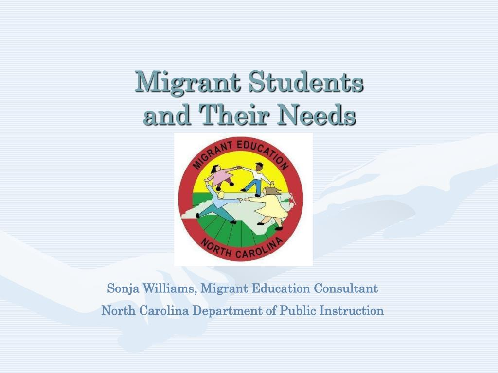 migrant students and their needs l.