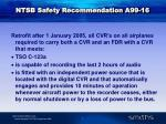 ntsb safety recommendation a99 16