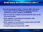 ntsb safety recommendation a99 17