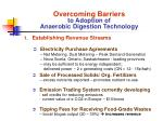 overcoming barriers to adoption of anaerobic digestion technology21