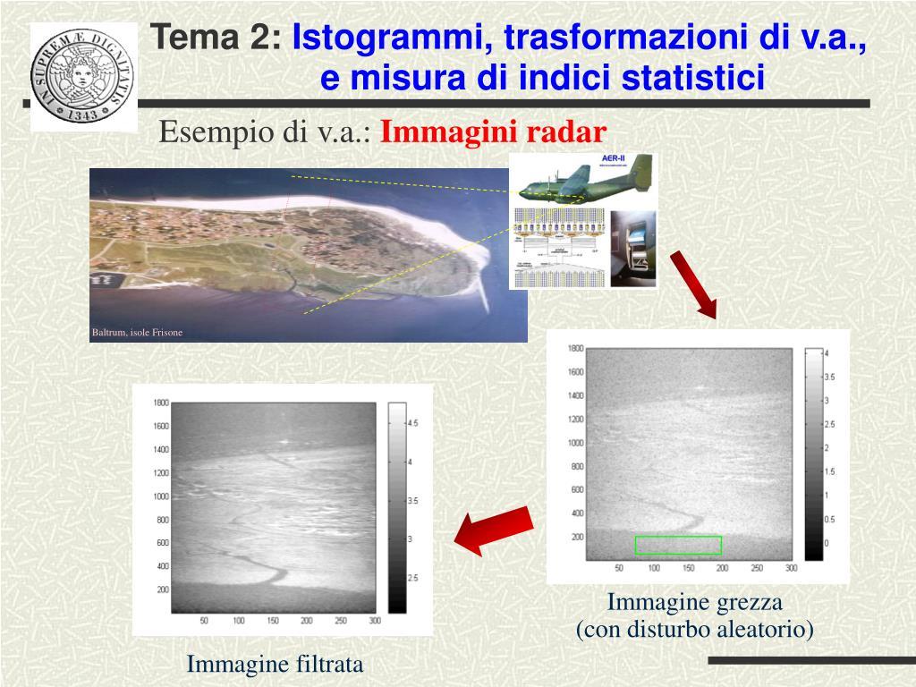 esempio di v a immagini radar l.