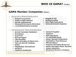 who is gama cont
