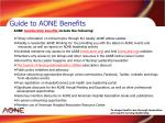 guide to aone benefits
