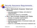 security assurance requirements22