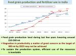 food grain production and fertiliser use in india