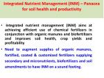 integrated nutrient management inm panacea for soil health and productivity