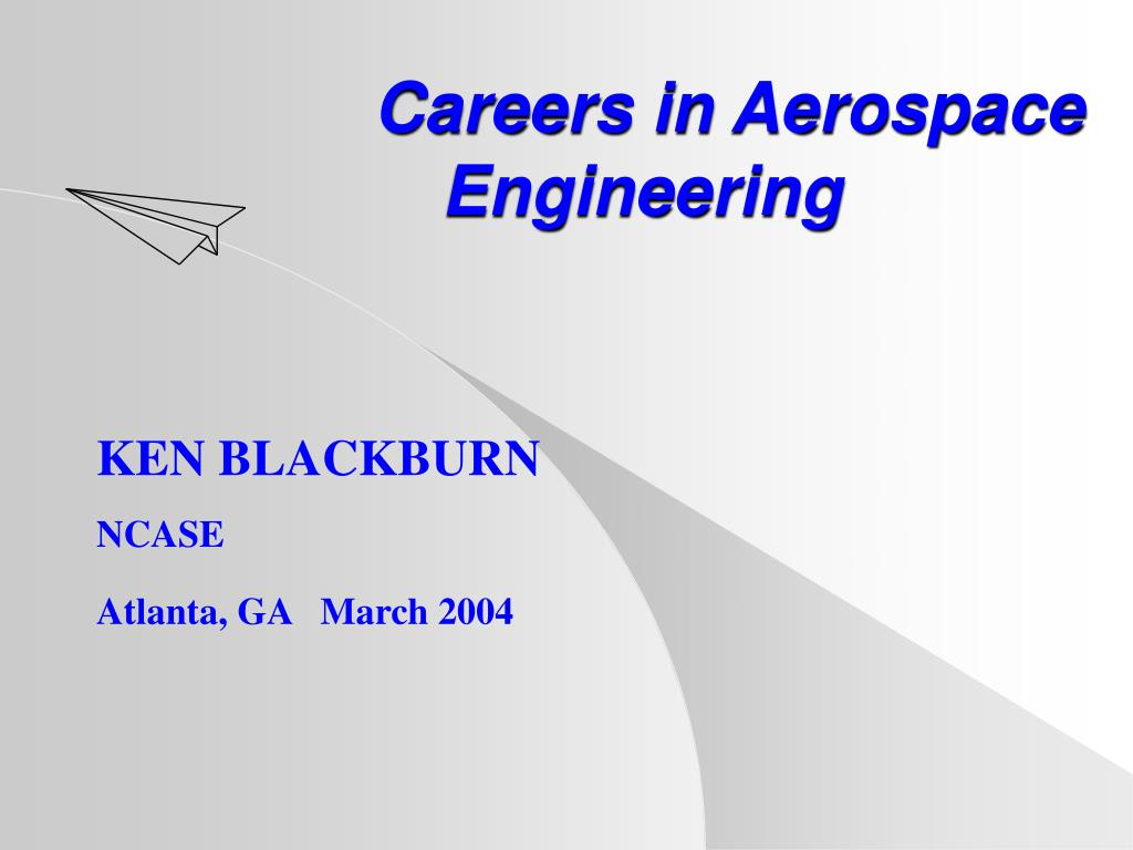 careers in aerospace engineering l.