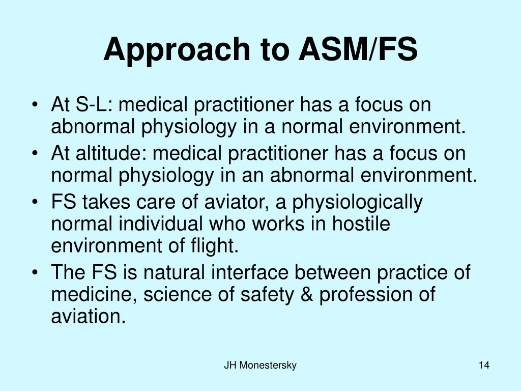 Approach to ASM/FS