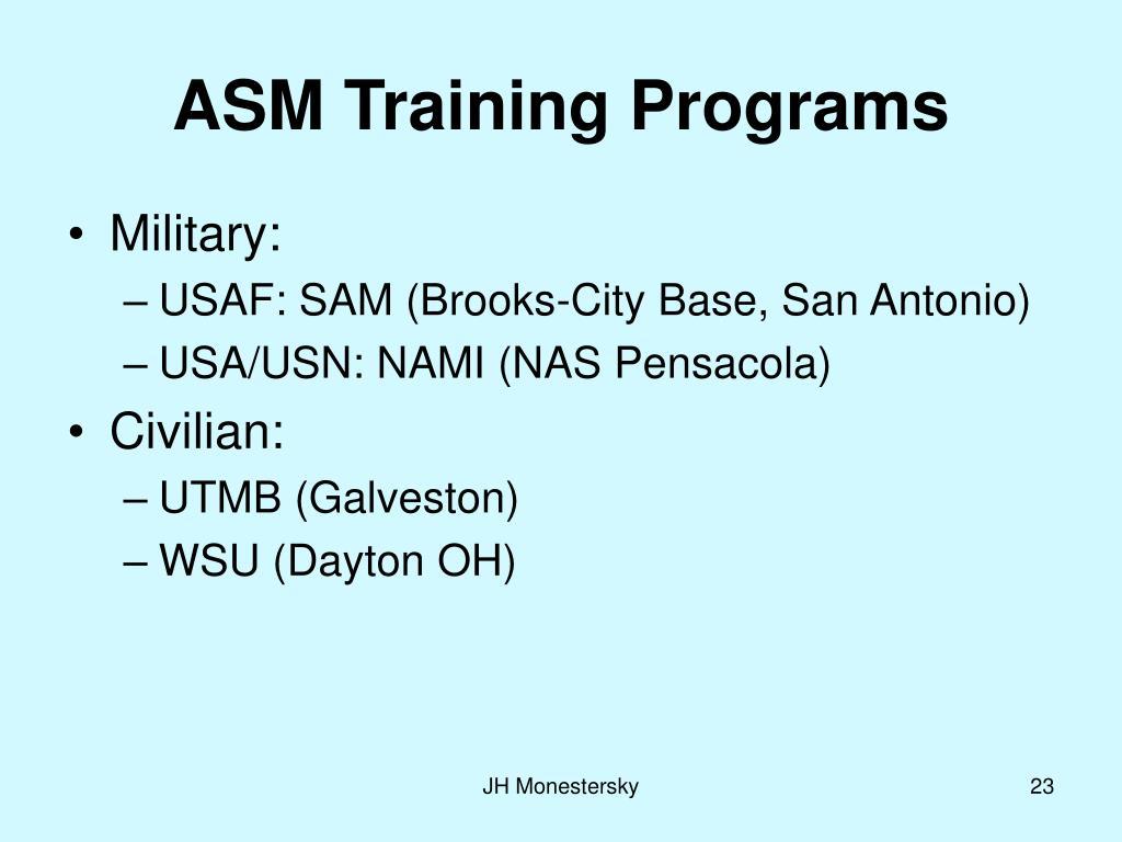 ASM Training Programs