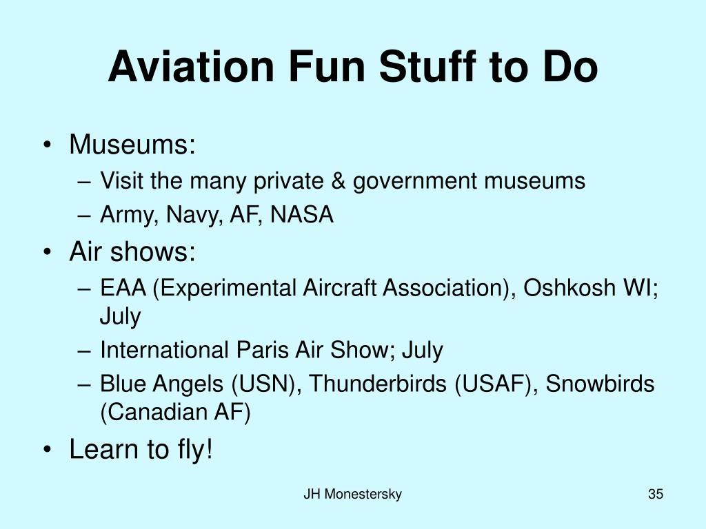 Aviation Fun Stuff to Do