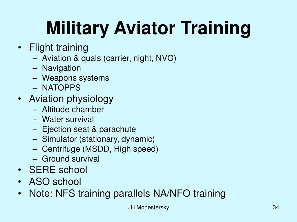 Military Aviator Training