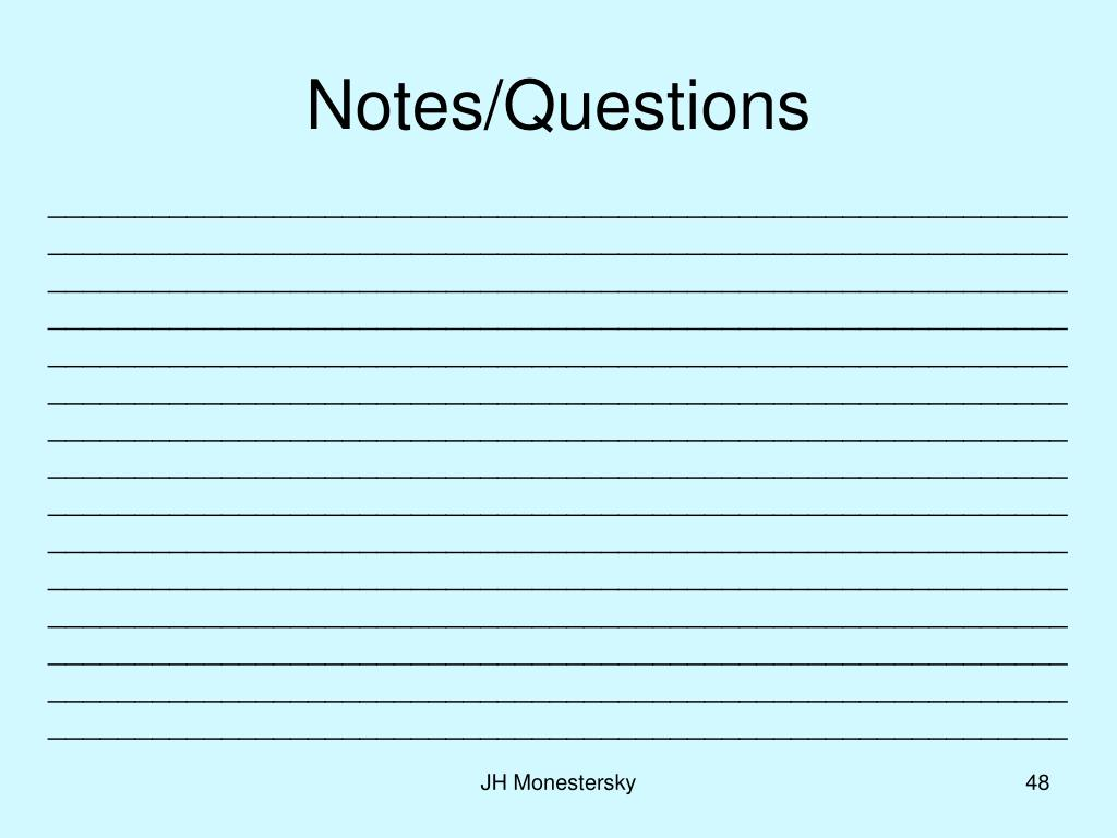 Notes/Questions