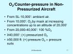 o 2 counter pressure in non pressurized aircraft