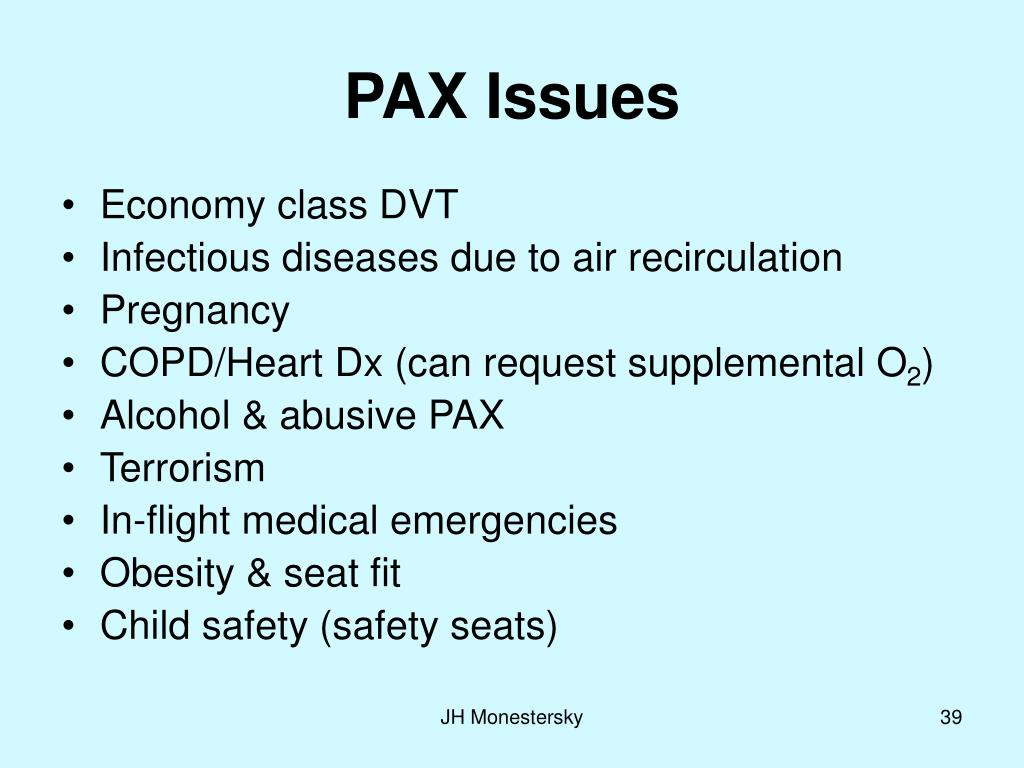 PAX Issues