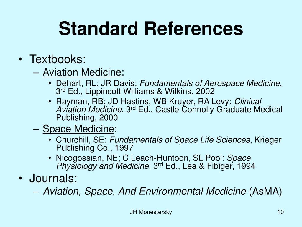 Standard References