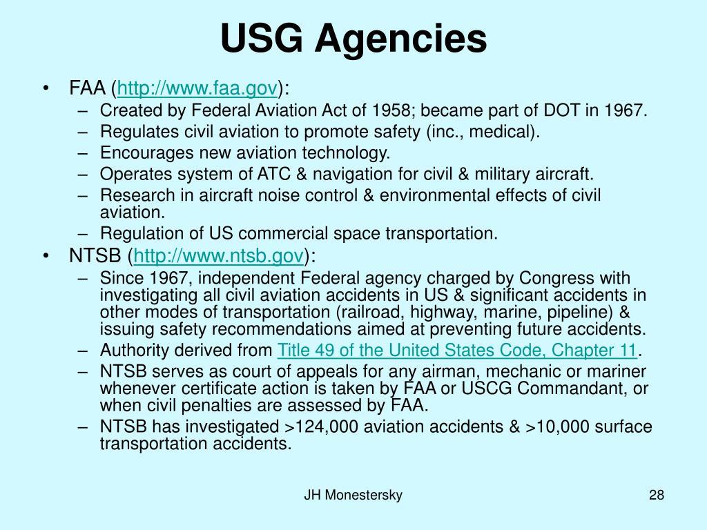 USG Agencies