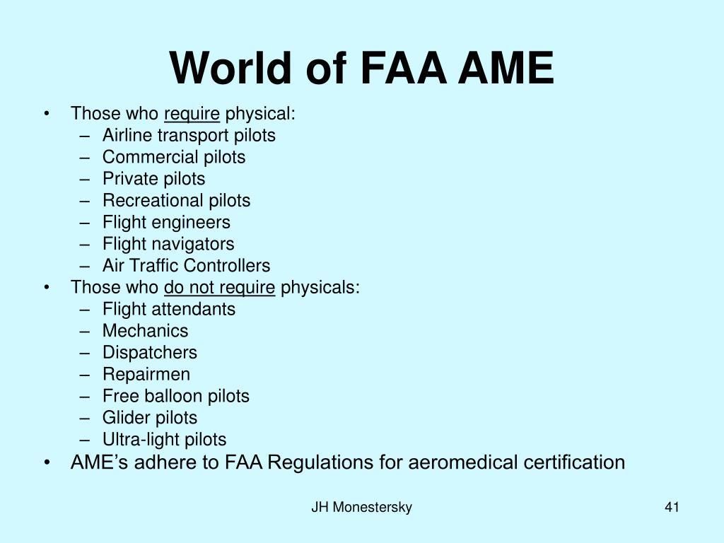 World of FAA AME