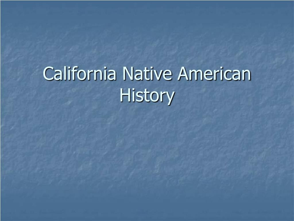 california native american history l.
