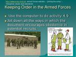 keeping order in the armed forces