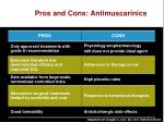 pros and cons antimuscarinics