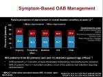 symptom based oab management
