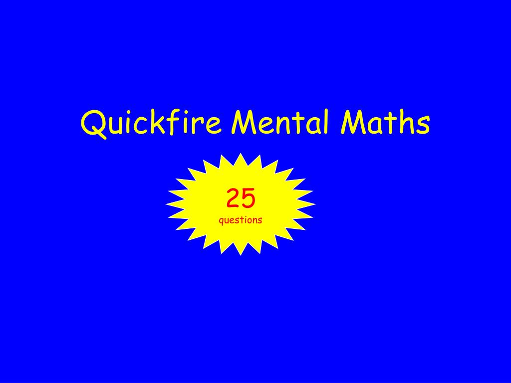 quickfire mental maths l.