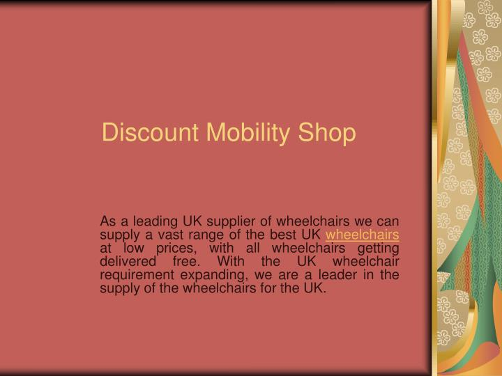 discount mobility shop n.